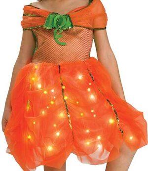 Kids Twinkle Pumpkin Princess Costume