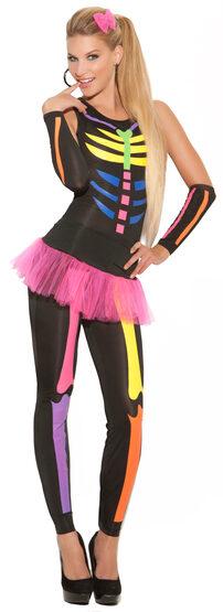 Womens Scary Bones Skeleton Adult Costume