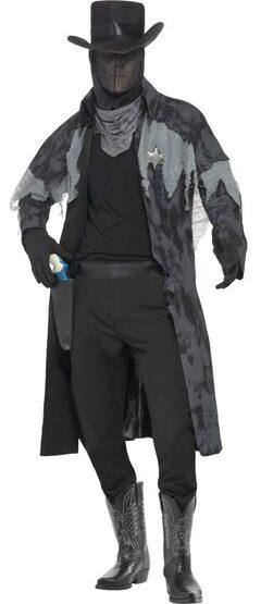 Ghost Town Phantom Sherriff Adult Costume