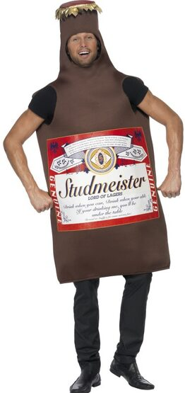 Studmeister Beer Bottle Funny Adult Costume