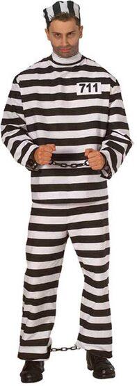 Prisoner Man Adult Convict Costume