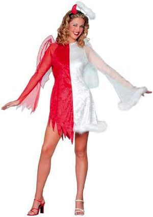 Womens Adult Devil and Angel Costume