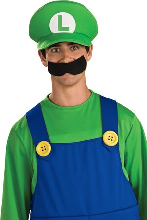 Super Mario Brothers Deluxe Adult Luigi Hat