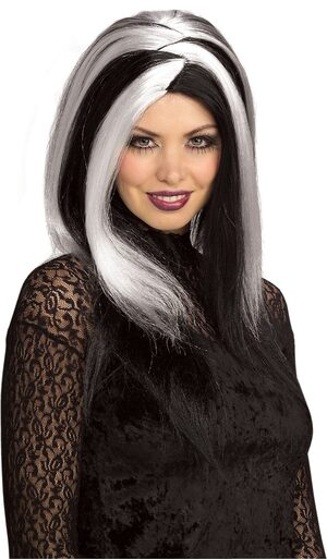 Sinister Stripes Gothic Wig