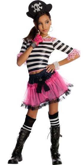 Punk Rock Treasure Pirate Kids Costume