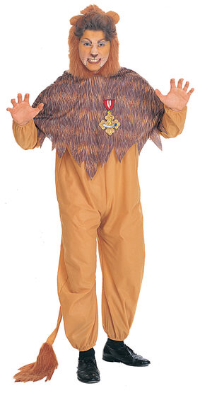 Mens Wizard of Oz Cowardly Lion Costume