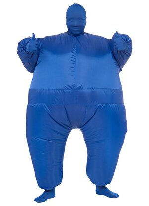 Funny Blue Inflatable Adult Costume