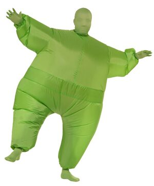Funny Green Inflatable Adult Costume