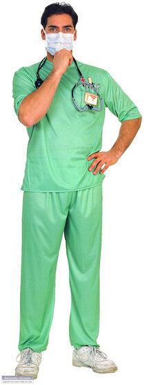 Emergency Room Male Surgeon Adult Doctor Costume