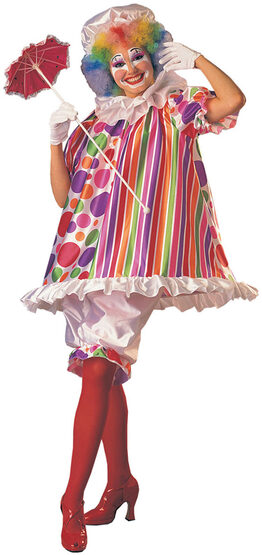 Betty Bright Womens Adult Clown Costume
