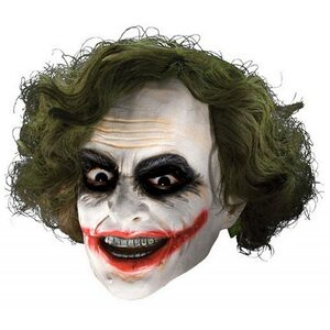 The Joker Adult 3/4 Mask with Hair