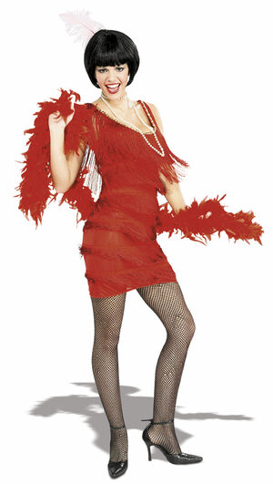 Sexy Roaring 20s Red Flapper Costume