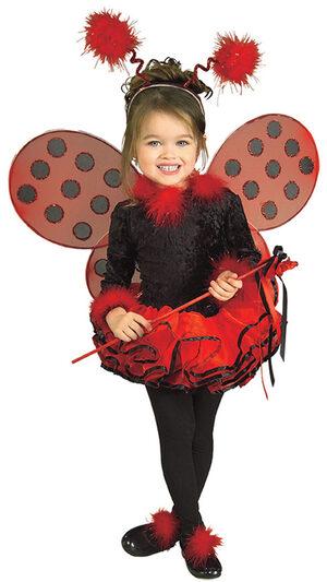 Girls Deluxe Tutu Toddler Ladybug Costume