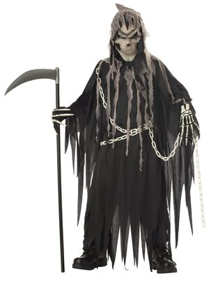 Glow in Dark Grim Reaper Kids Costume