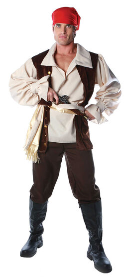 Adult Mens Caribbean Pirate Costume