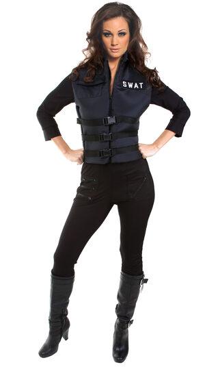 Sexy Lady SWAT Cop Costume