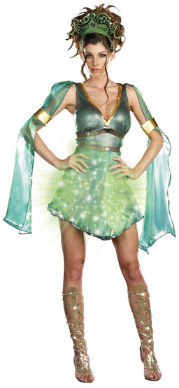Sexy Mythical Medusa Light Up Costume