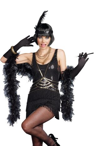Sexy Aint Misbehavin Flapper Costume