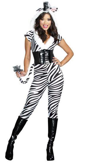 Sexy Zebralicious Animal Costume