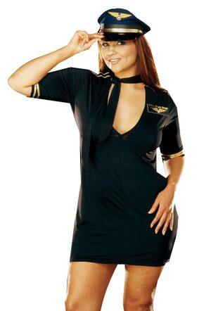 Mile High Captain Plus Size Pilot Costume