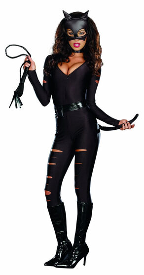 Sexy Night Prowler Catwoman Costume