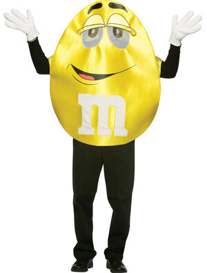 Yellow M and M Deluxe Adult Costume