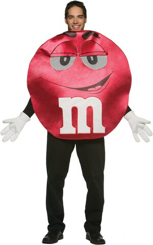 Red M and M Deluxe Adult Costume