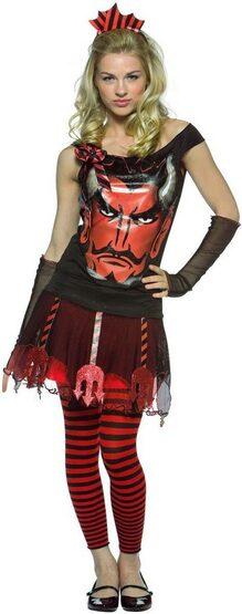 Glam Faces Devil Gothic Teen Costume