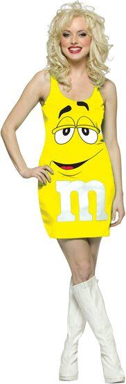 Sexy Yellow M and M Costume