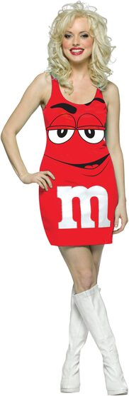Sexy Red M and M Costume