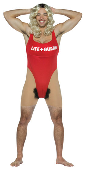 Lifeguard Anita Waxin Funny Adult Costume