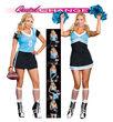 Quick Change Dream Team to Cheerleader Sexy Plus Size Costume