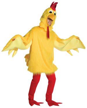 Fuzzy Chicken Adult Costume