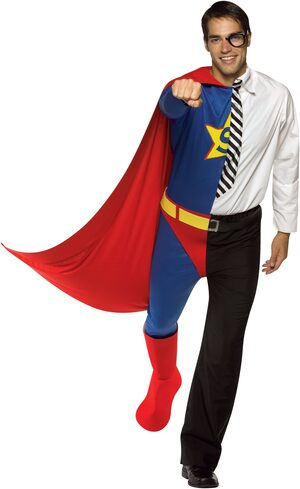 Dual Superhero and Journalist Adult Costume