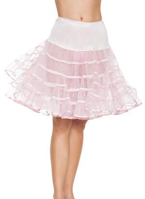 White Shimmer Organza Knee Length Petticoat