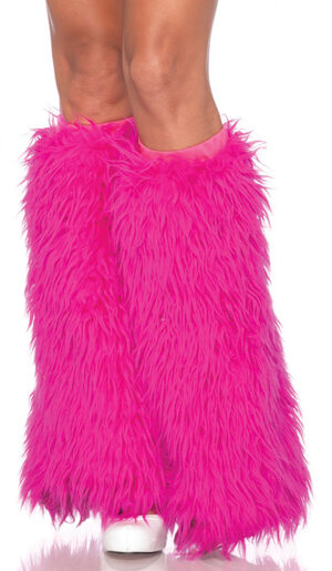 Hot Pink Furry Leg Warmers