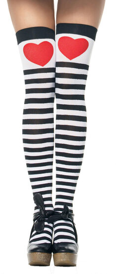 Womens Striped Alice In Wonderland Stockings