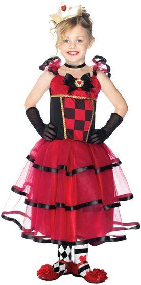 Wonderland Queen of Hearts Kids Costume