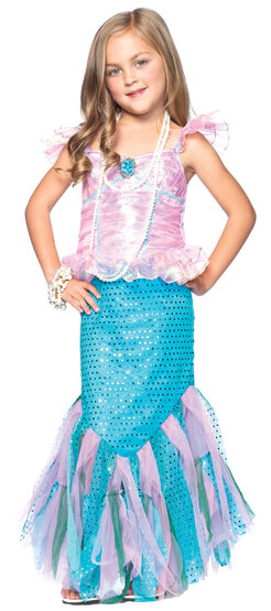 Girls Magical Mermaid Kids Costume
