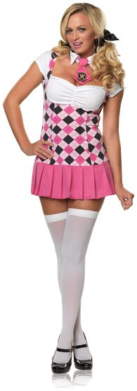 Sexy Prep School Cutie School Girl Costume