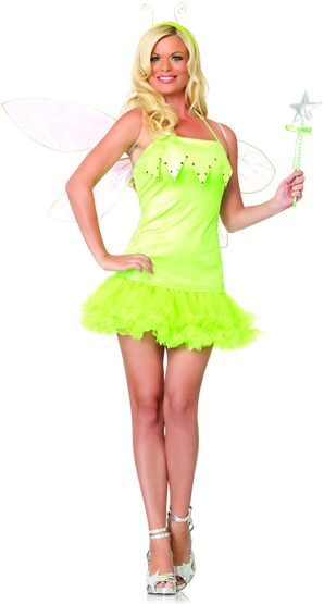 Pixie Dust Sexy Green Fairy Costume