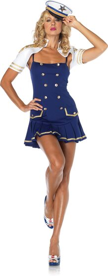 Sexy Ship Shape Captain Sailor Costume
