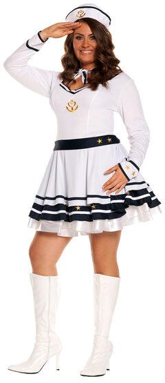 Anchors Away Sailor Girl Plus Size Costume
