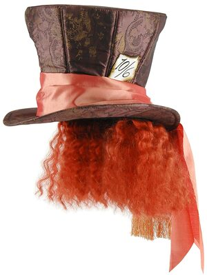 Adult Deluxe Disney Mad Hatter Hat with Hair