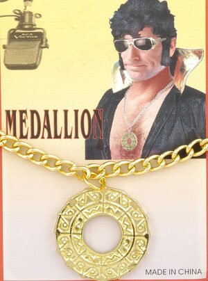 1970s Disco Medallion Necklace