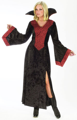 Womens Red Rose Adult Vampiress Costume