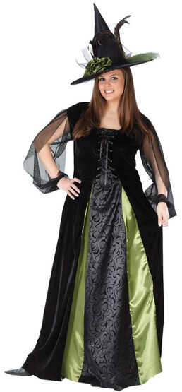 Gothic Maiden Witch Plus Size Costume