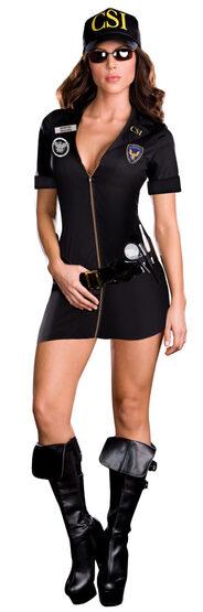 Detective Celia Fate CSI Sexy Cop Costume