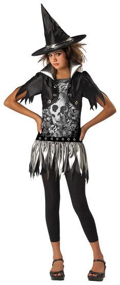 Sassy Gothic Kids Witch Costume