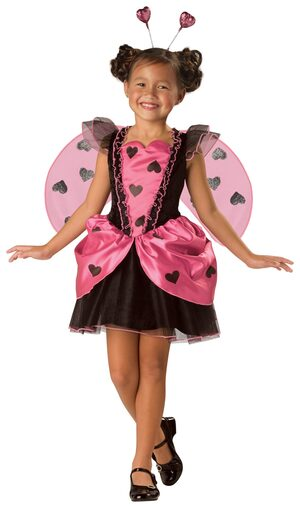Girls Love Bug Kids Costume